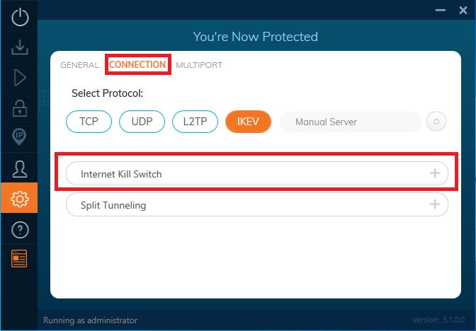 Internet Kill Switch Option