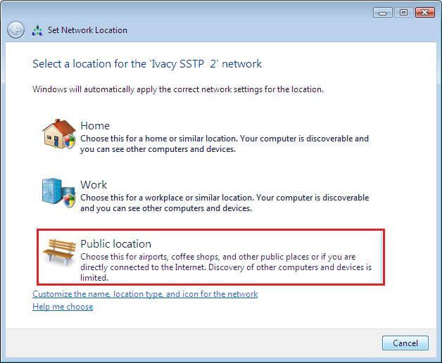 Windows Vista Network Locations