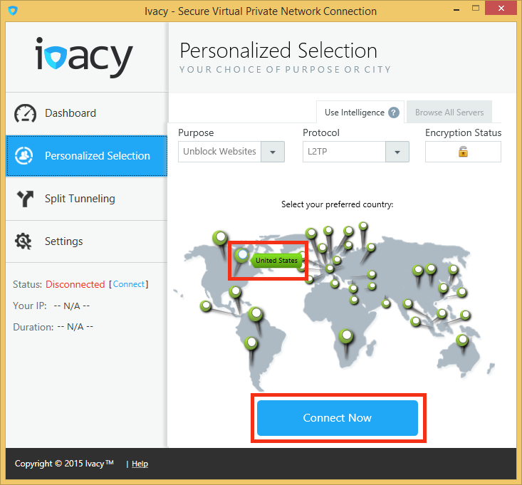 Ivacy VPN Windows 8 Dialer