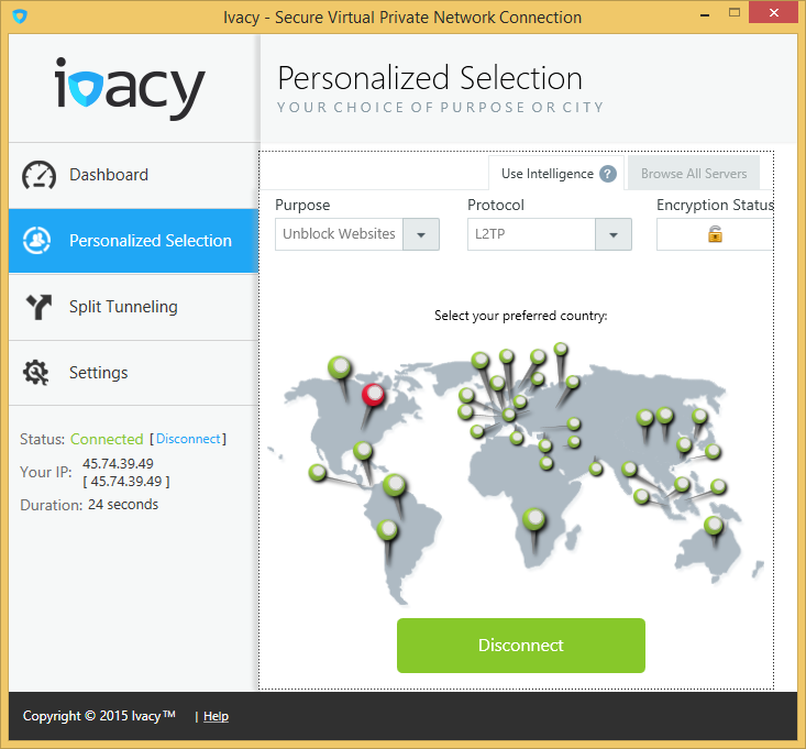 Ivacy VPN on Windows 8