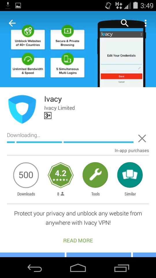 Ivacy VPN Installing