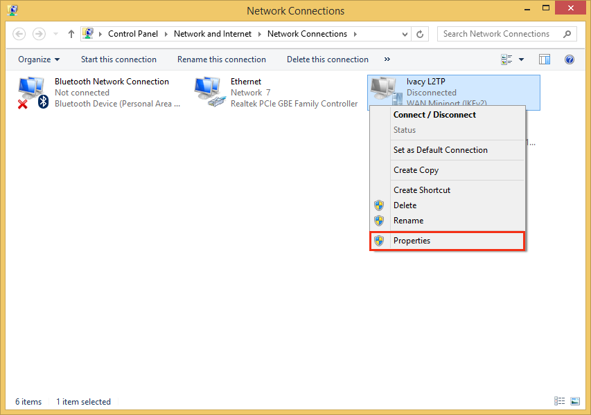 Configure VPN L2TP on Windows 8