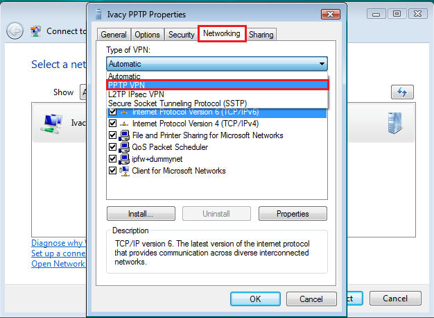 Windows 7 PPTP VPN Client Setup