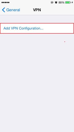 iPhone VPN Configuration
