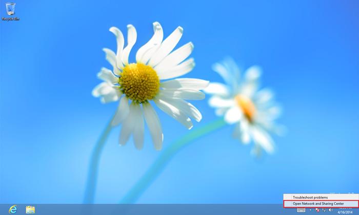 Windows 8 Desktop - Configure VPN on Windows