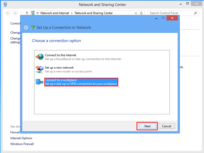 Set Up a Connection or Network on Windows 8