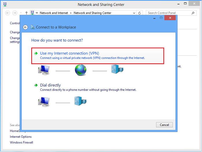 how to connect to internet on windows 8