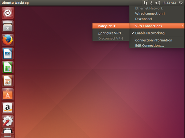 Connect Ivacy on Ubuntu