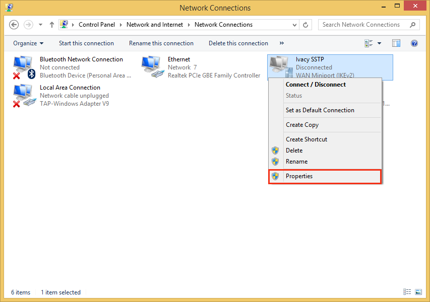 Configure VPN on Windows 8