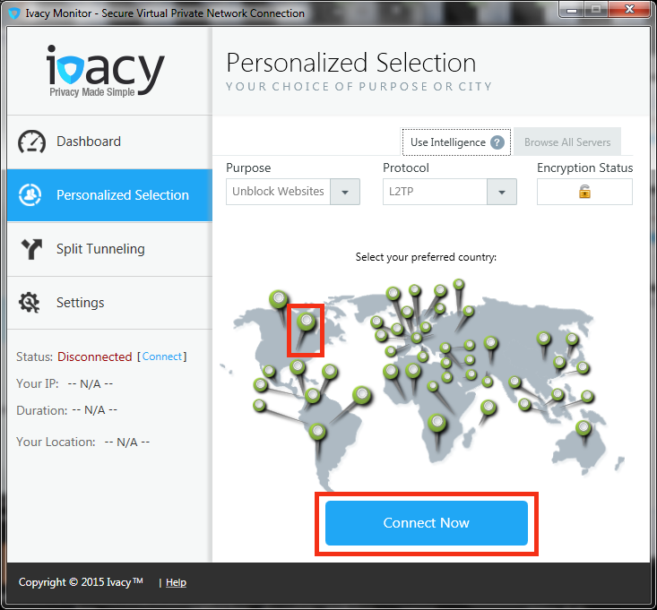 Ivacy VPN on Windows 7