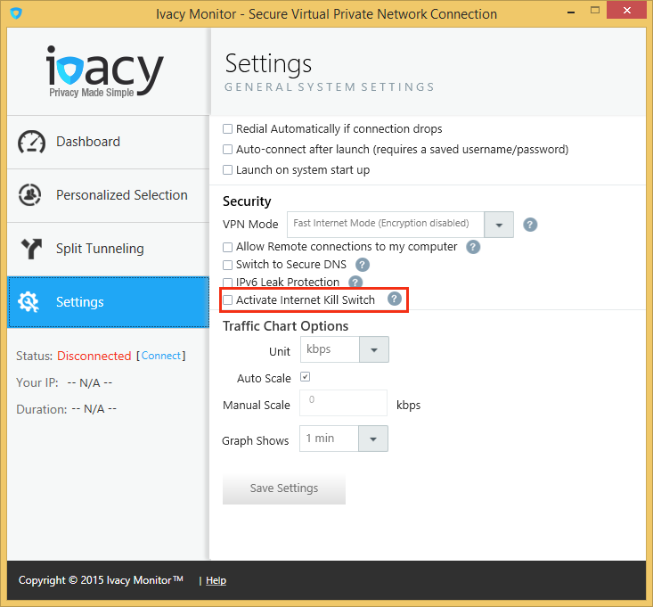 Setup Internet Kill Switch in Ivacy