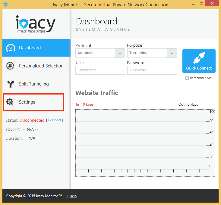 Ivacy Monitor Windows Client