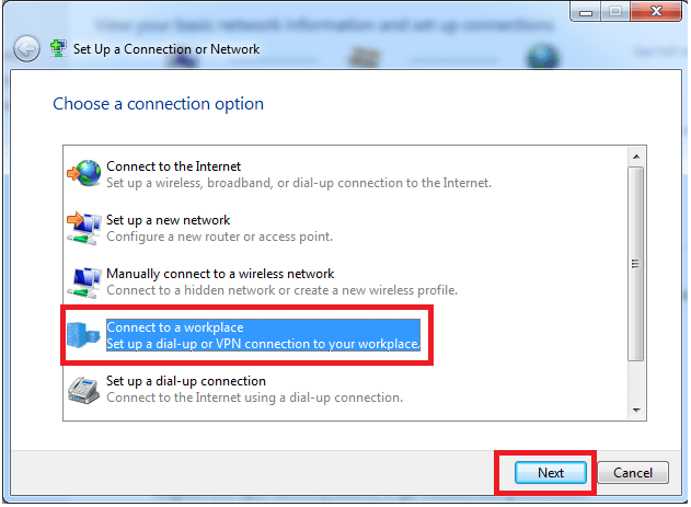 Windows 7 Network Connection Setup