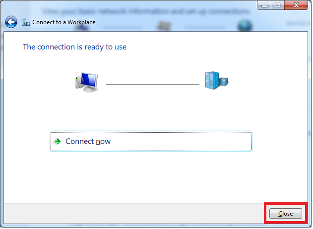 Windows 7 VPN Connection Setup