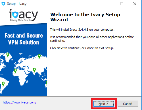 Ivacy Setup Wizard