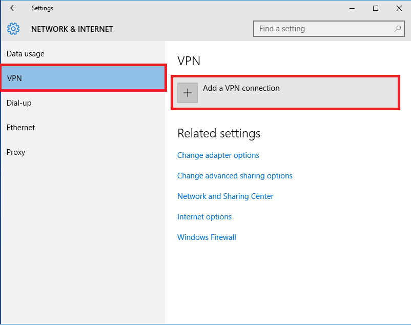 How To Setup VPN on Windows 10 Manually