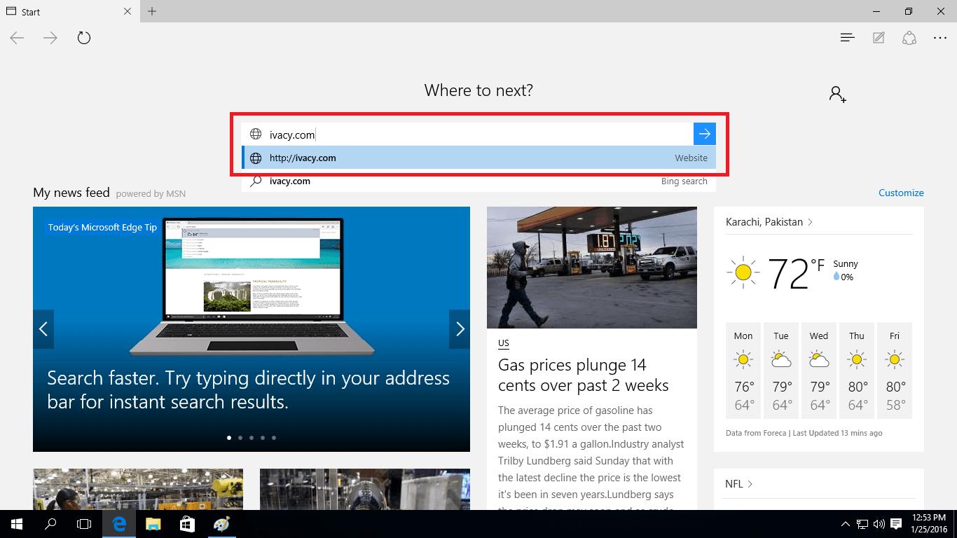 Windows 10 Browser