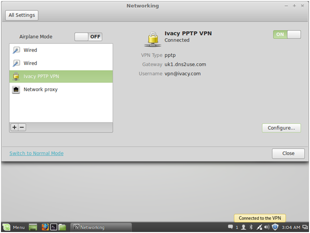 Need free VPN for linux mint