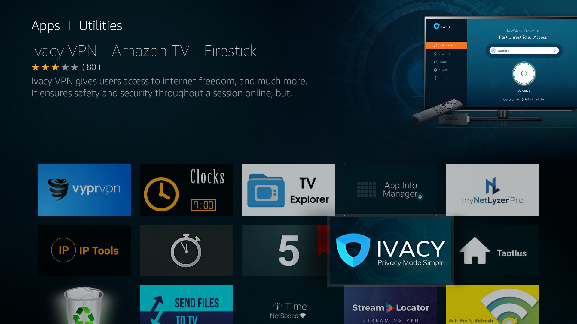 How To Download And Install Ivacy Vpn For Amazon Fire Tv Fire Tv Stick Ivacy